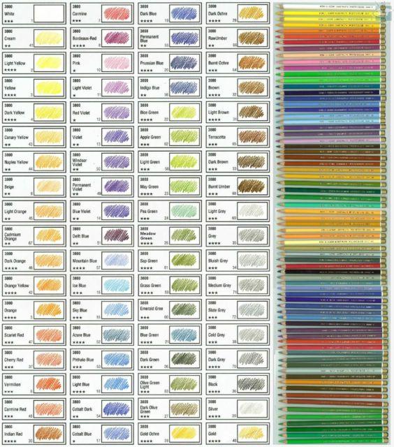 KOH-I-NOOR Polycolor Farbstifte in Künstlerqualität 72 Farben frei wählbar