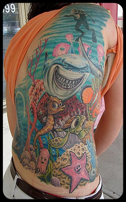 40 best nemo images on pinterest dory finding nemo dory for Tattoo shops in cleveland