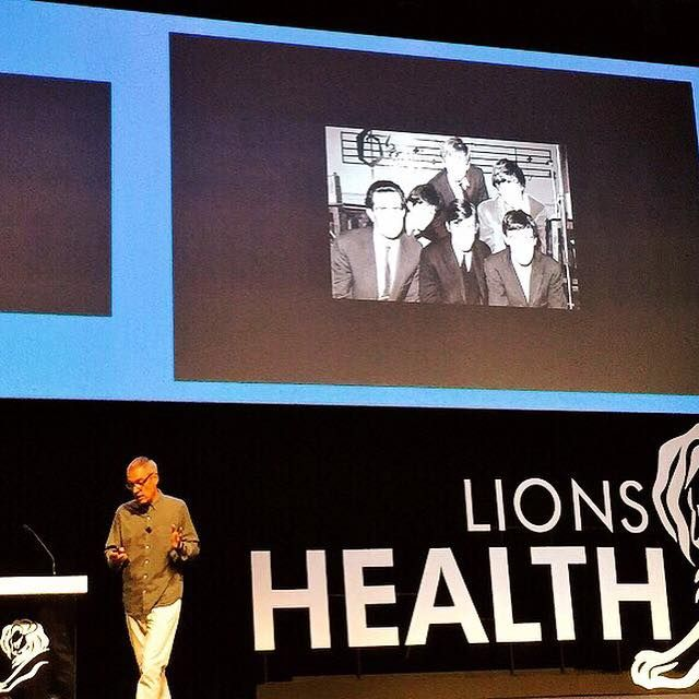 Our very own Jose Miguel Sokoloff on stage at Lions Health discussing key lessons from his time in advertising.   'We're one of the most powerful industries to make positive change. Everything takes time but anything can be done'   #BonjourMLG