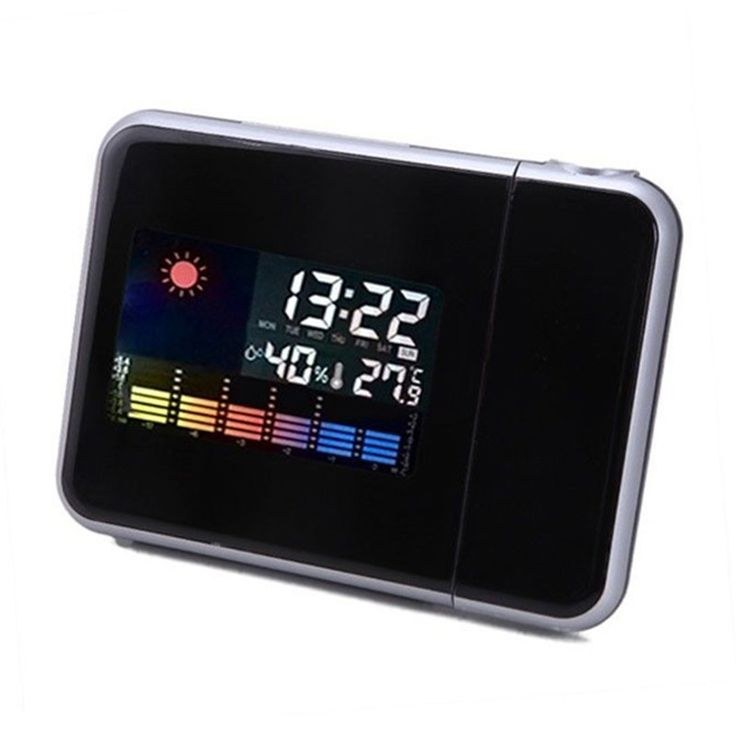 New Brand Digital Projection Clock Weather Multi Function Alarm Color Screen Calendar E5M1  hot sale * Offer can be found on AliExpress website by clicking the image