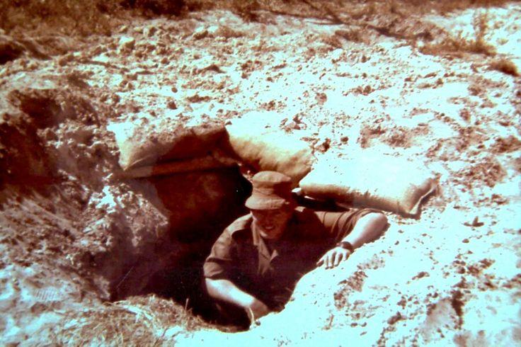 Katima 1978. Cymbeline Mortar locating unit hole