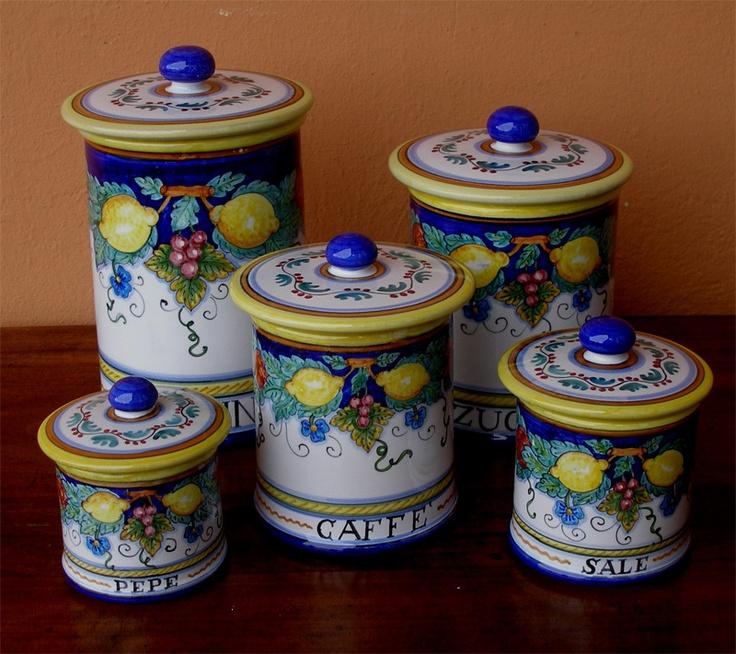 109 best vietri italian ceramics images on pinterest for Italian kitchen set