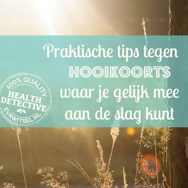 Praktische tips tegen hooikoorts waar je gelijk mee aan de slag kunt -- evawitsel.nl