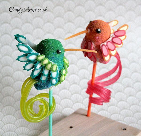 Hummingbird Cake Pop   Cute Lollipop   CutestFood.com