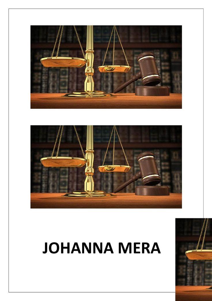 La psicologia juridica  Nombre: Johanna Mera. Semestre: segundo derecho