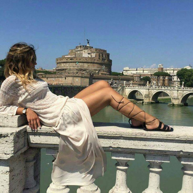 moda greca in pelle sandali Ancient Greek Sandals di fattoamanou su Etsy