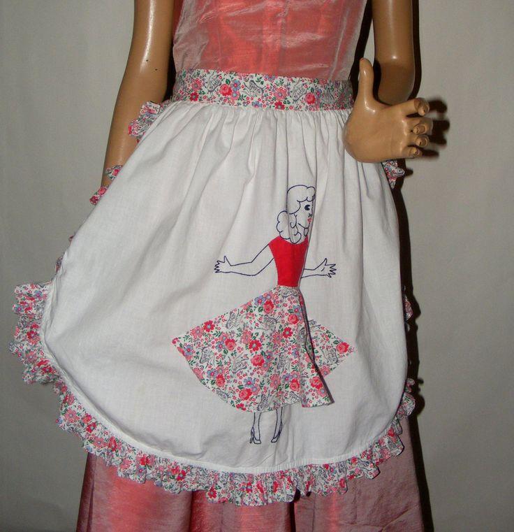 Vintage 1950s 1960s Novelty Apron Bobby Socks Circle Skirt by RecyclingTheBlues on Etsy https://www.etsy.com/listing/128525876/vintage-1950s-1960s-novelty-apron-bobby