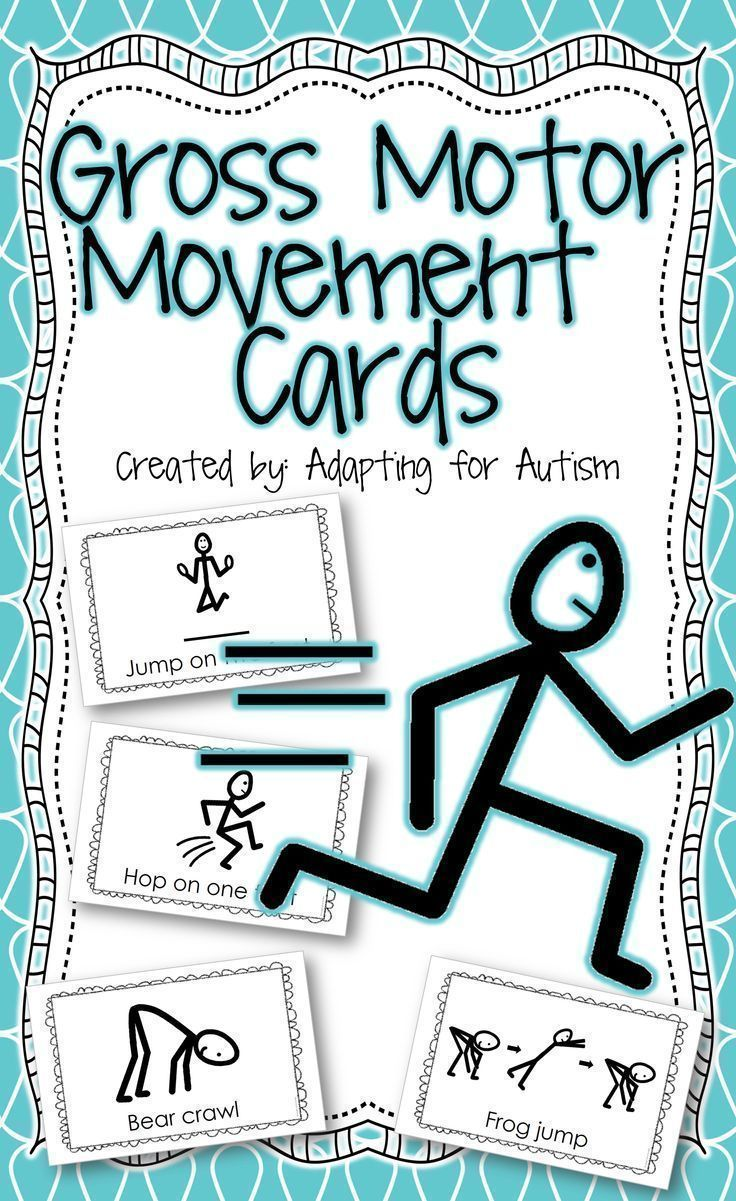 Special education students need lots of movement breaks during the school day. The gross motor movement activity cards are perfect for brain breaks, sensory breaks and adapted PE!