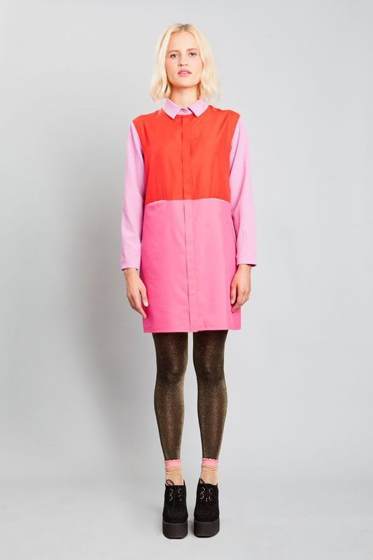 Pink shirt dress.  http://shop.yalo.fi/product/1755/pink-shirt-dress