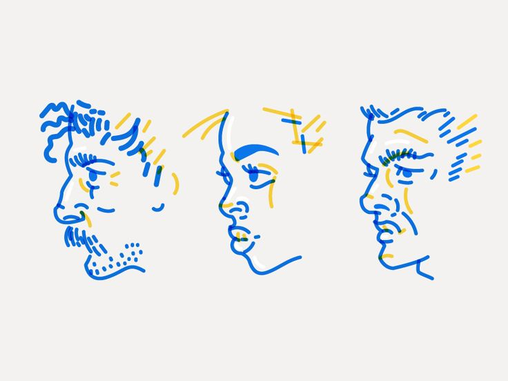 Here are some more experiments based on my Pocket Sketchbook - Quickie Faces.