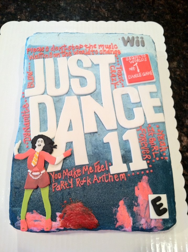 Just Dance Birthday Cake: Chicago Cakes, Birthday Stuff, Kids Cakes, Dance Cakes, Dance Birthday, Parties Birthday, Fondant Cakes, Birthday Ideas, Birthday Cakes