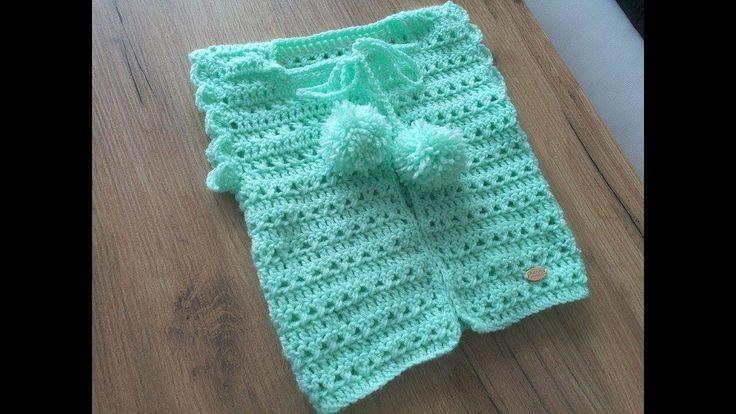 No 198 #Sweterek na szydełku dla dziecka 10k - crochet cardigan for baby