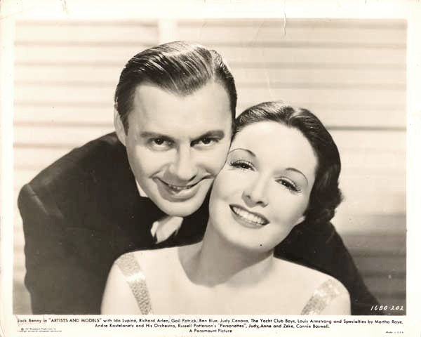 Gail Patrick with Jack Benny in Artists and Models (1937).