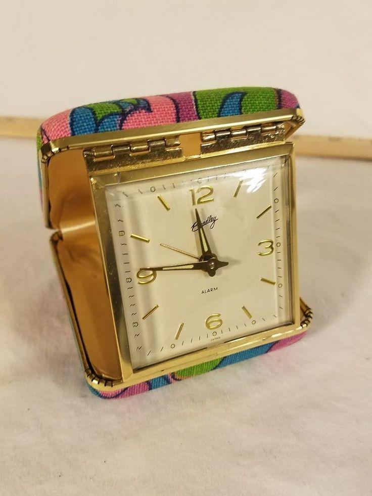 SUPER RARE PATTERNED VINTAGE BRADLEY TRAVEL ALARM CLOCK WORKS GREAT GROOVY CLOCK | Collectibles, Clocks, Vintage (1930-69) | eBay!