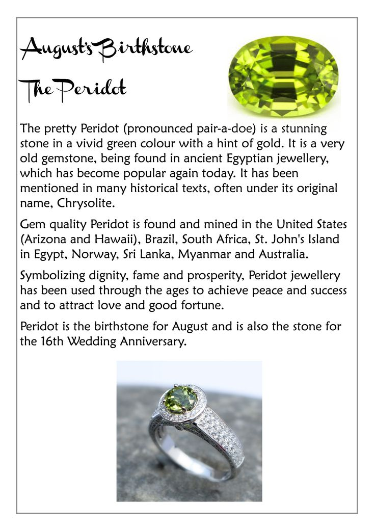 peridot birthstone meaning - Google Search