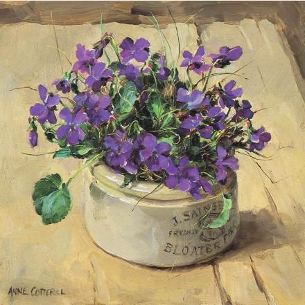 Coaster - Wild Violets | Mill House Fine Art – Publishers of Anne Cotterill Flower Art