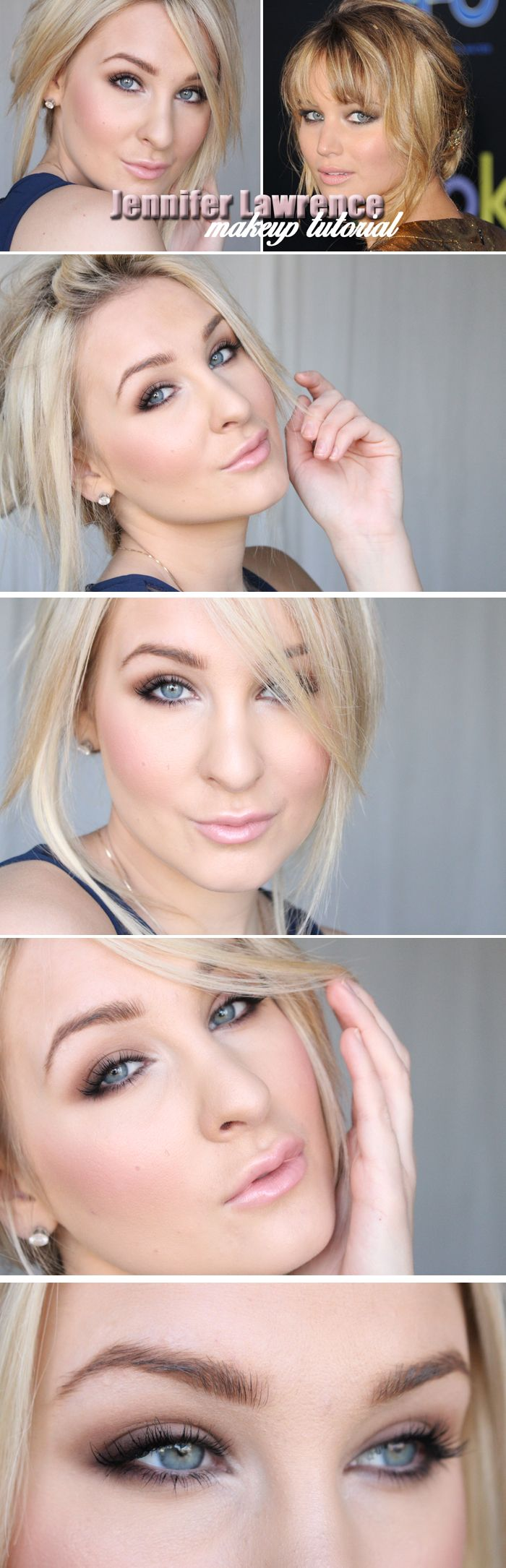 Dagens makeup – JENNIFER LAWRENCE TUTORIAL