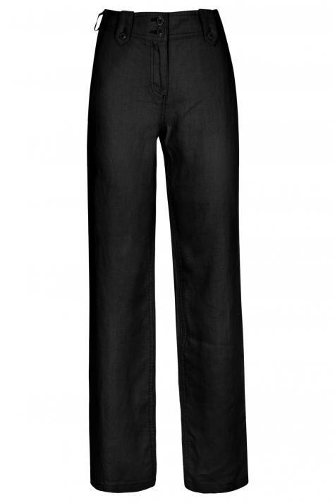 Vergroot - Zwarte linnen broek Lana