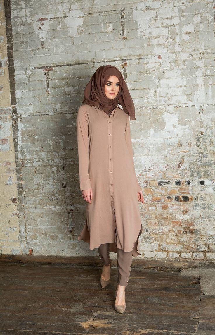 SHIRT DRESS PINKY NUDE  #shirt #dress #modestwear #hijab #nude