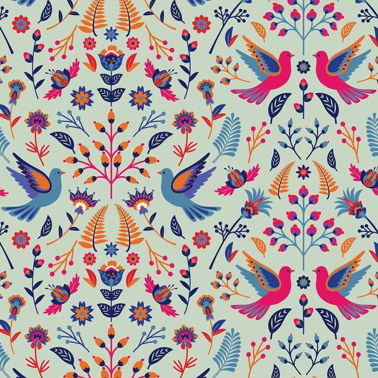 Pattern design, illustration, wrapping paper, Eva Lechner, graphic design