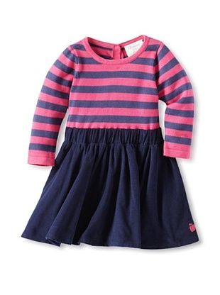 67% OFF Bonnie Baby Baby Soft Corduroy & Knit Dress (Navy/Pink)