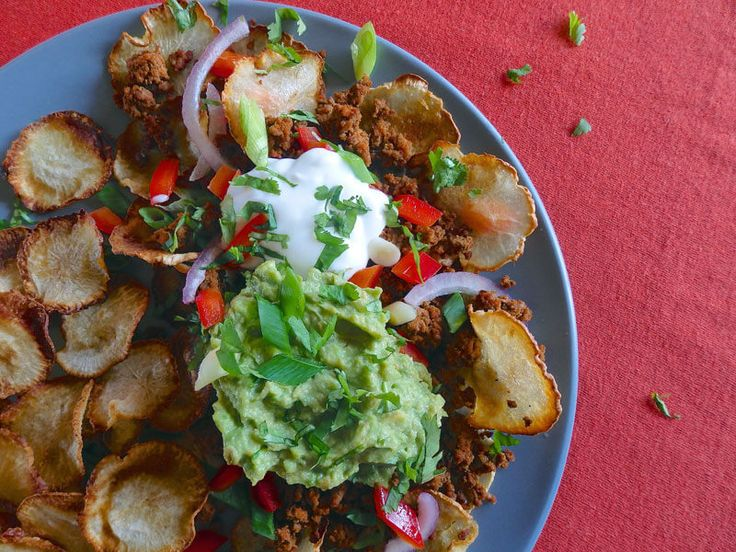 These rutabaga nachos are a perfect snack for parties or when you and your family feel like some tasty, filling food.