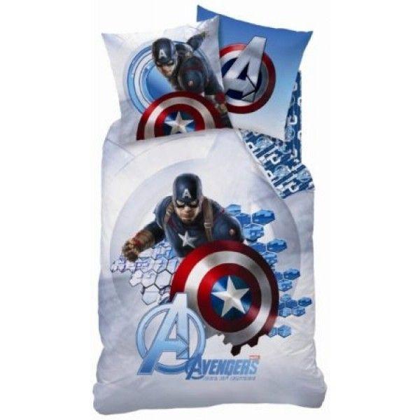 Marvel Avengers sengetøj i 100% bomuld og med superhelten Captain America