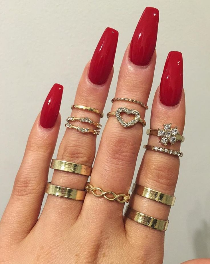 46 best Red (Tip) Nails images on Pinterest   Nail design, Nail ...