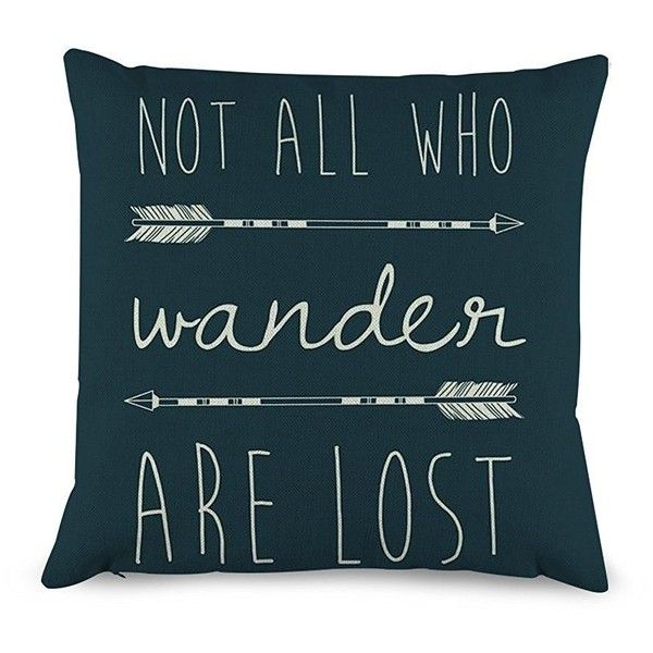 Amazon.com: Generic Quotes with Arrow Throw Pillow Covers Decorative... ($1.77) ❤ liked on Polyvore featuring home, home decor, throw pillows, quote throw pillows, arrow home decor and arrow throw pillow