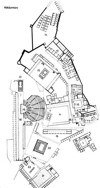 Map of the Pergamon acropolis