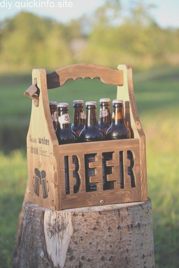 Beer Caddy Beer Carrier Rustic Beer Tote Beer Holder Beer Box Beer Tote Wooden Six Pack Bottle Opener Bottle Holder 6 Pack Holder Mens Gift Beer Crate Beer Caddy Beer Box