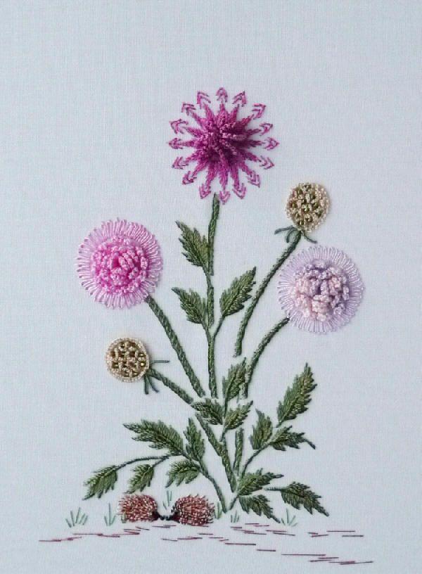 Brazilian Embroidery Designs    Hattie's Pincushion  by Rosalie Wakefield