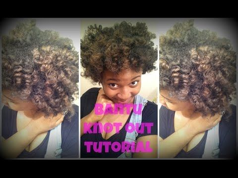 MiKayla's Bantu Knot Out Tutorial - YouTube