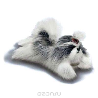 Мягкая игрушка Yomiko Ши-тцу, цвет: белый, 30,5 см