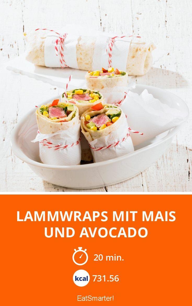 Lammwraps mit Mais und Avocado | Kalorien: 731.56 Kcal - Zeit: 20 Min. | eatsmarter.de