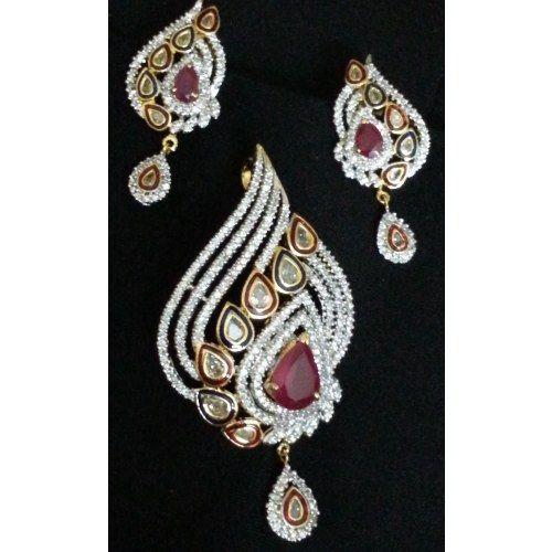 American Diamond Pendant Set - Online Shopping for Pendants by SKG