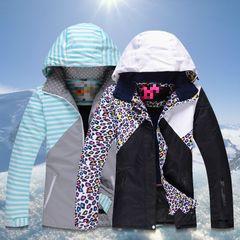 Открытый RIVIYELE одинарной и двойной пластины теплый водонепроницаемого дышащего лыжный костюм женский леопард модели лыж одежда женские доставка