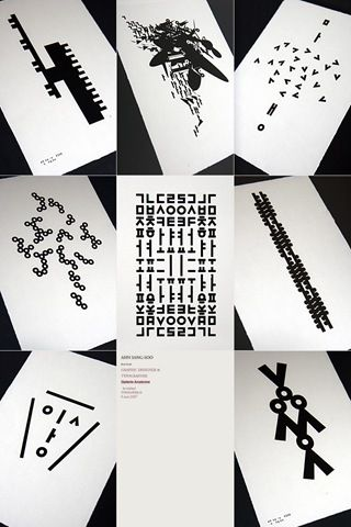 korean typography - sang-soo ahn