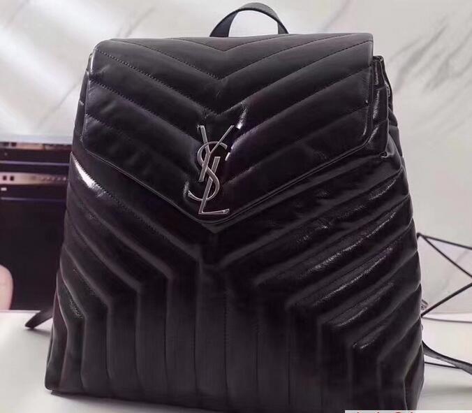 b4c6577d9537  YSL 2018  Saint Laurent Medium Loulou Monogramme Backpack Bag in