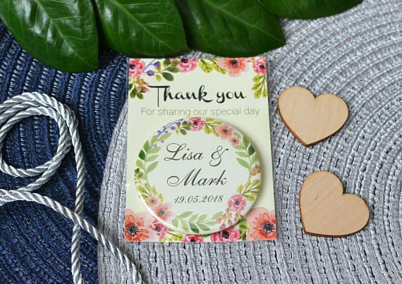 Wedding magnets Thank you magnets Personalized wedding favors
