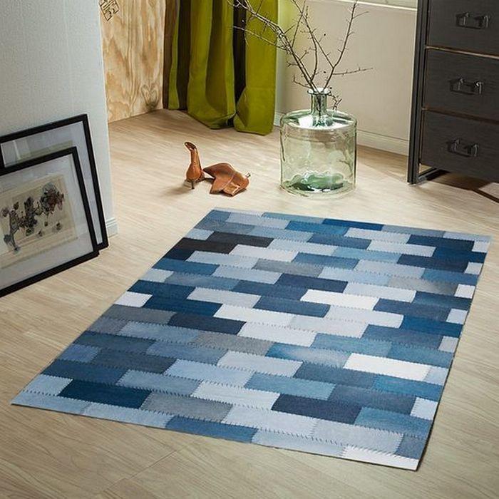 Interesting Diy Carpet Ideas From Old Jeans Interiery Recyklace Polstare