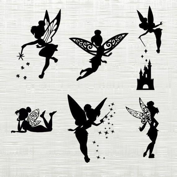 Tinkerbell Svg Disney World Svg Tinkerbell Cutfile Svg Archivos Svg Para Archivos Cutfile Small Fairy Tattoos Disney Tattoos Small Fairy Silhouette