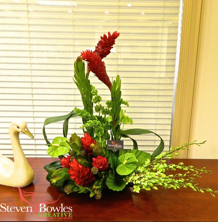Tropical florals for office and hotels by steven bowles