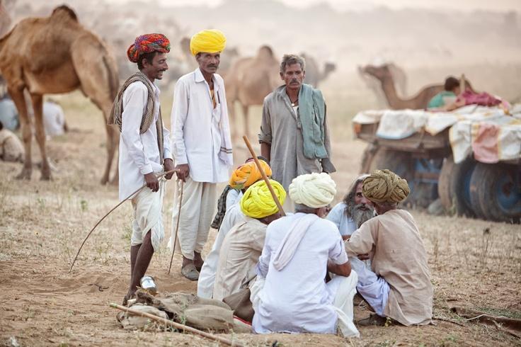 Men at Pushkar Camel festival