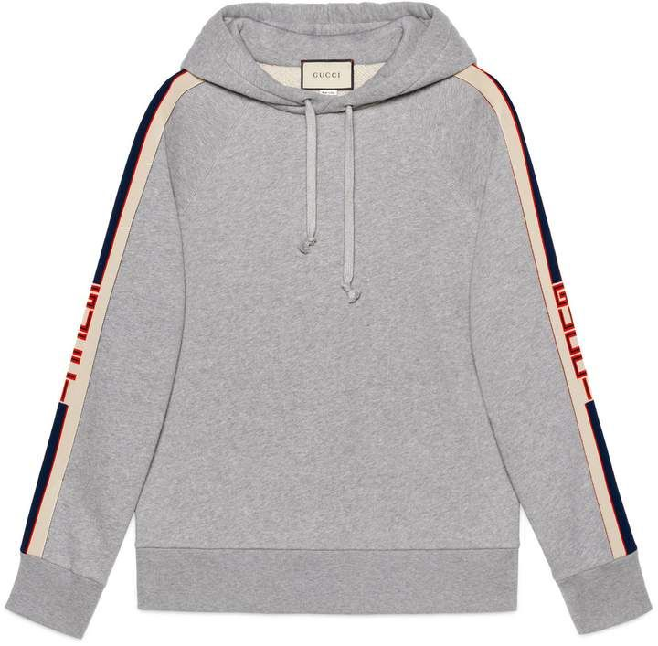 639785190a5 Hooded sweatshirt with Gucci stripe