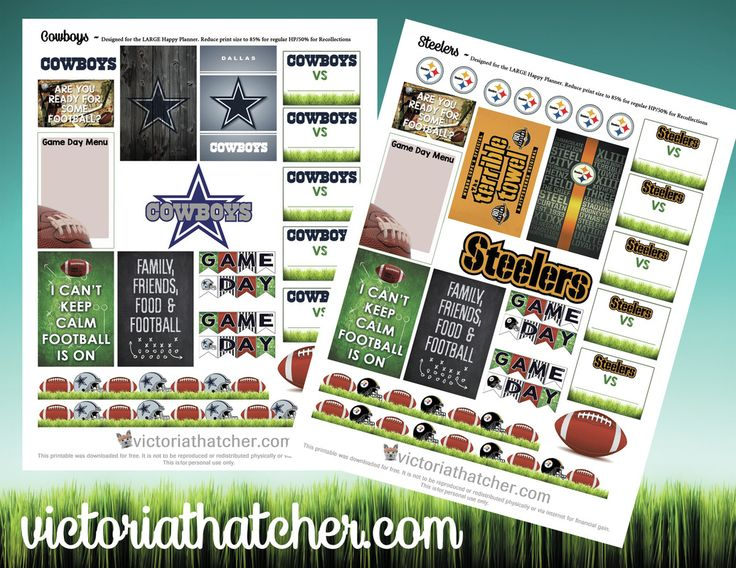 FREE NFL Teams Planner Printable by Victoria Thatcher