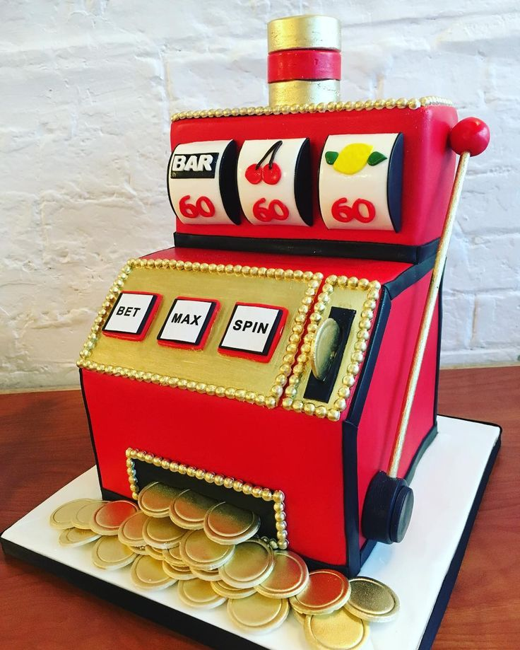 Happy 60th Birthday! Fun slot machine cake!