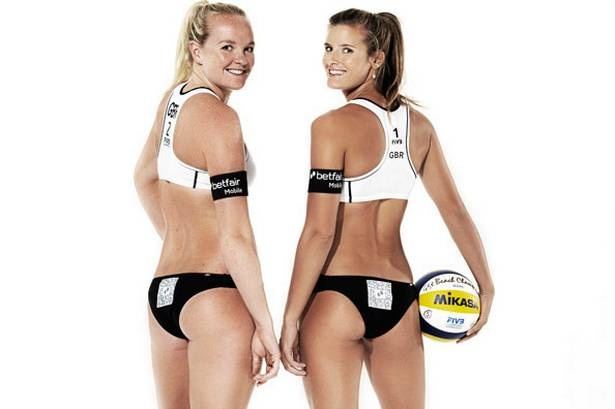 Team GB London Olympics beach volleyball stars to wear adverts on their bums
