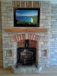 wood stove + tv
