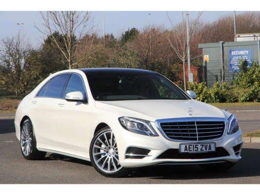 Used 2015 (15 reg) Diamond White Metallic Mercedes-Benz S Class AMG Line for sale on RAC Cars